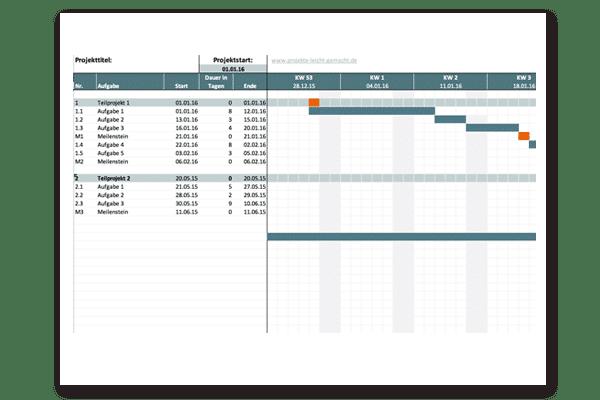Projektplan Vorlage Projektplan Vorlage Excel 12